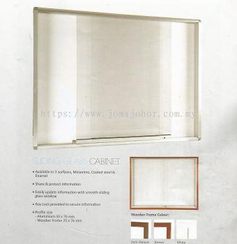 Sliding Glass Cabinet