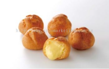 Hokkaido Mini Cream Puff (12pcs = 105g/pkt) (Available Flavors Vanilla, Chocolate, Matcha Green Tea, Strawberry)