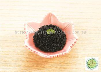 Seasoned Flying Fish Roe Black / Halal Tobiko Black