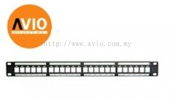 "PP24M 24 Port Patch Panel Frame for 19"" 19 inch Rack"