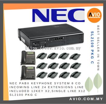 NEC SL2100 PKG C PABX Keyphone System 6CO 24 Extensions 2 + 12