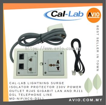 MD-NIF(8CG-DSL) for 230V Power Outlet RJ45 Gigabit LAN and RJ11 DSL