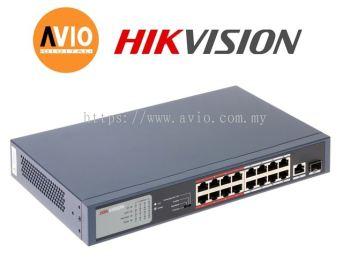 Hikvision DS-3E0318P-E/M 16 POE + 1 Uplink +1 SFP POE Switch