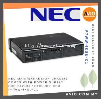 NEC IP7WW-4KSU-C1 Main/Expansion Chassis comes with Power supply