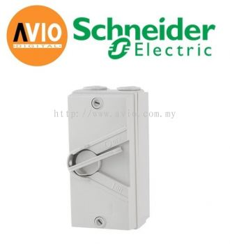 Schneider WHT35 GY Kavacha 35A 3 Pole IP66 Weatherproof Isolator Switch