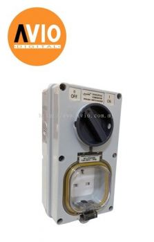 8336S 13A IP66 Weatherproof Combination Switched Socket Outlet