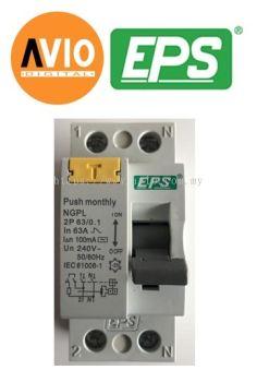 EPS NGPL632 EM 2 Pole 63A 100mA RCCB