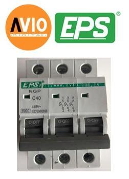 EPS NGP403C Type C 6kA 3 Pole 40A MCB
