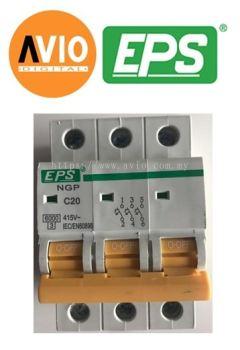 EPS NGP203C Type C 6kA 3 Pole 20A MCB