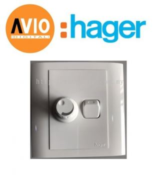 Hager WXED1R500 500W 2 Way Switched Single Dimmer