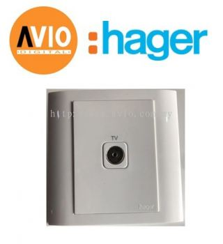 Hager WXETV75 1 Gang TV Coaxial Outlet