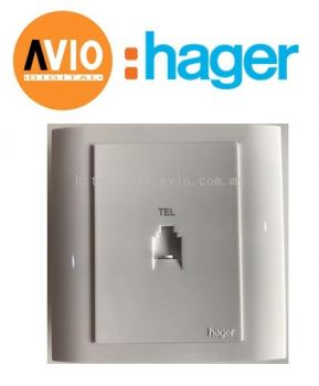 Hager WXET1RJ 1 Gang RJ11 Telephone Outlet