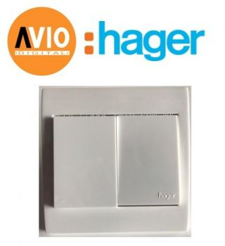 Hager WXEL121 2 gang 1 way Large Dolly Switch