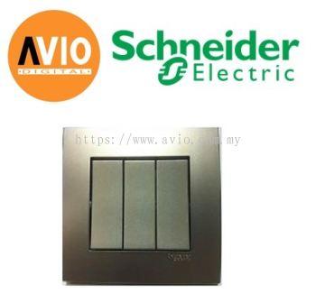 Schneider SCHKB33-AS Vivace 3 Gang 1 Way Light Switch
