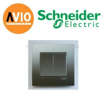 Schneider SCHKB32-AS Vivace 2 Gang 1 Way Light Switch