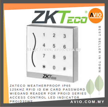 ZKTeco PROID30WE RFID Wiegand Reader + Keypad Dual colour LED