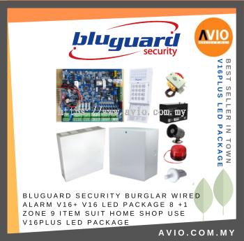 Bluguard V16N LED Package 8+1 zone Alarm Package