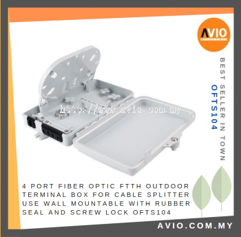 AVIO FTS104 4 - port FTTH Outdoor Terminal Box fiber optic use