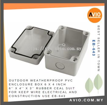 EB-643 6'' X 4'' X 3'' PVC ENCLOSURE BOX