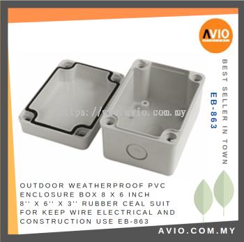 EB-863 8'' X 6'' X 3'' PVC ENCLOSURE BOX