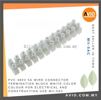 MII-5AC PVC Wire Connector Termination Block 5A (1PCS)