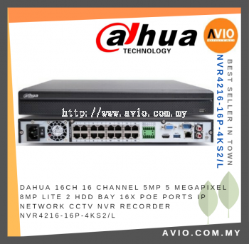 Dahua NVR4216-16P-4KS2/L 16ch Channel CCTV Network Video Recorder ( NVR )