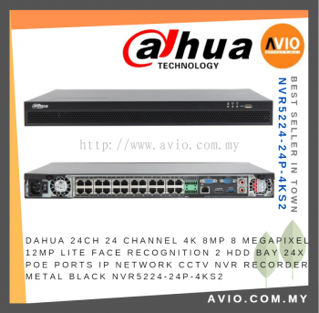 Dahua NVR5224-24P-4KS2 24ch Channel CCTV Network Video Recorder ( NVR )
