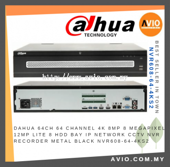 Dahua AVIO NVR608-64-4KS2 CCTV 64 ch channel Super 4K Network Video Recorder