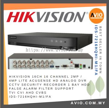 Hikvision iDS-7216HQHI-M1/FA 16 Ch 4MP Lite CCTV Recorder