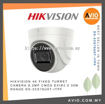 Hikvision DS-2CE76U0T-ITPF 8MP 30m Dome CCTV Camera