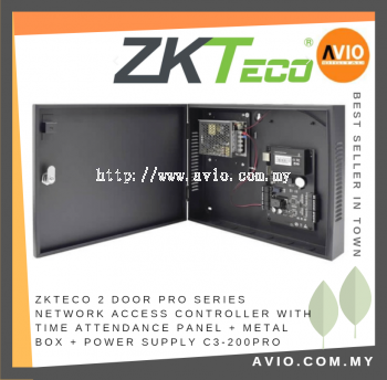 ZK Software C3-200PRO 2 Door Pro Series Networked Access Control Panel (Green Label)