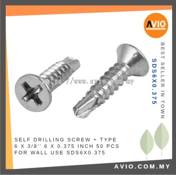 SDS6X0.375 6 X 3/8���� Self Drilling Screw (50 PCS)