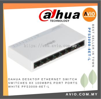 DAHUA AVIO PFS3008-8ET-L 8-port 10/100Mbps Fast Ethernet