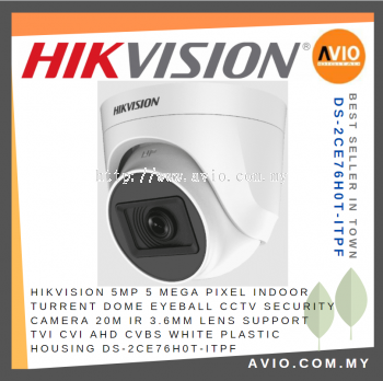 Hikvision DS-2CE76H0T-ITPF© 5MP 20m IR Dome Exir Turret Camera