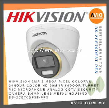 Hikvision DS-2CE70DF3T-PFS 2MP 20M HDCVI Dome CCTV Camera
