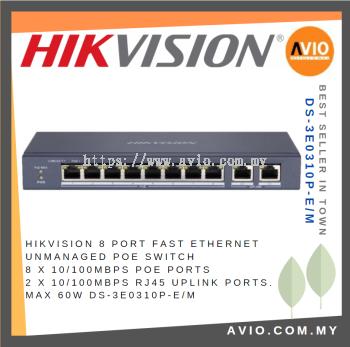 Hikvision DS-3E0310P-E/M 8 POE + 2 Uplink POE Switch