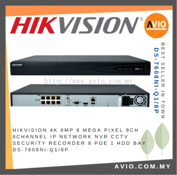 Hikvision DS-7608NI-Q1/8P 8 ch IP Network NVR with POE