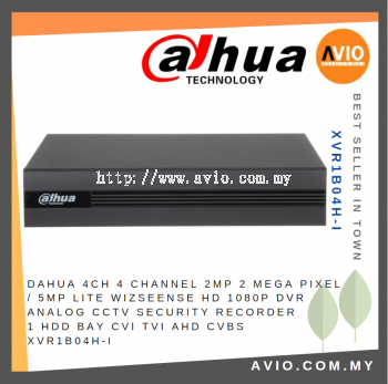 Dahua XVR1B04H-I CCTV 4CH Pentabrid 1080P 1U WizSense AI DVR Recorder