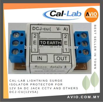 CAL-LAB DCJ-cu(12V5A) DC jack lightning isolator Protector for 12V 5A