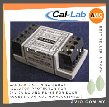 CAL-LAB MD-4Ccu(24V2A) Lightning Isolator Protector for 24V DC PTZ Camera with RS485