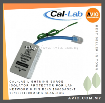 CAL-LAB SLAN-8CG LAN cable lightning isolator protector for 8-pin 1000BaseT