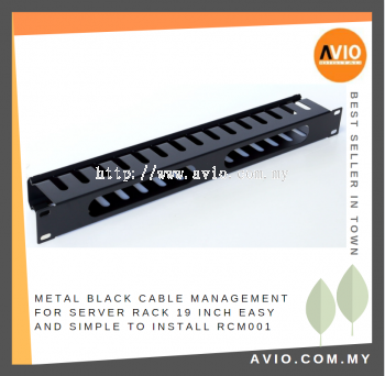 RCM001 1U Cable Management Panel for equipment server rack Come with cover