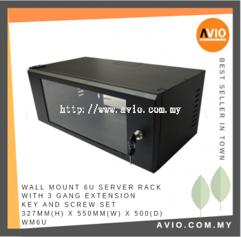 WM6U 6U Wall Mount Equipment / Server Rack