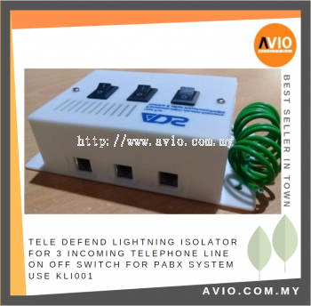ADS KLI001 TELE DEFEND Lightning Isolator for Incoming Telephone Line