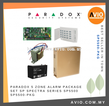 Paradox SP5500-PKG Spectra 5 - zone Alarm Package