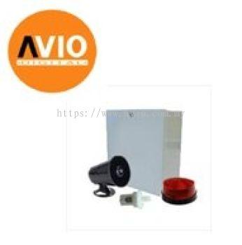 AVIO SIREN-PKG Alarm Siren Set with Metal Box Siren Horn Strobe light