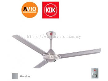 KDK K15W0-SL CEILING FAN SILVER 3 SPEED