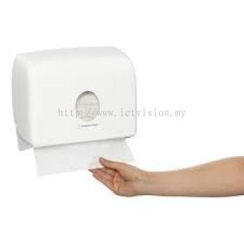 kimberly clark paper towel dispenser how to open