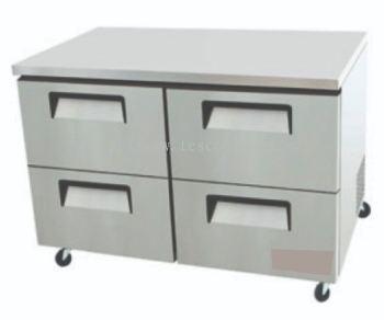 Four Half Door Drawer W/ Under Counter Refrigerator
