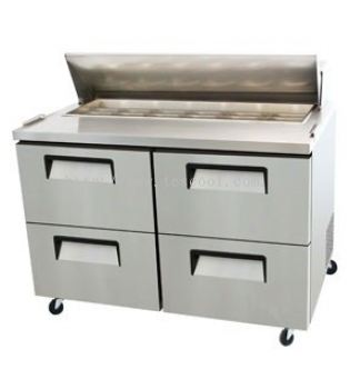 4 HALF DOOR DRAWER SALAD PREPARE TABLE CHILLER